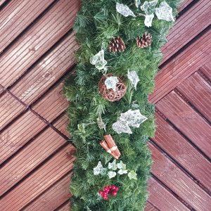 dressed christmas garland