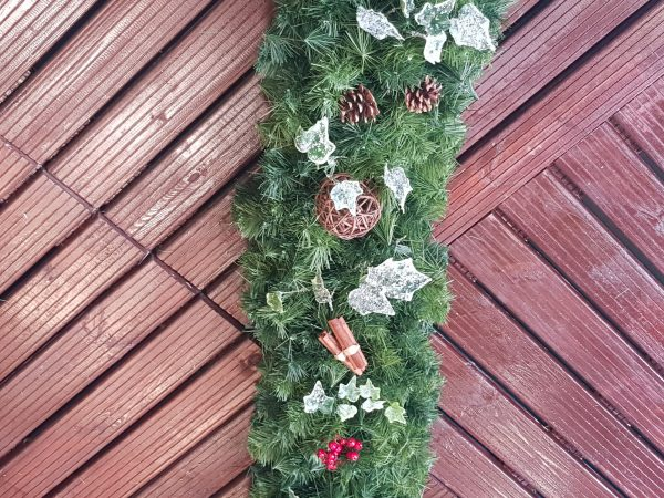 dressed christmas garland
