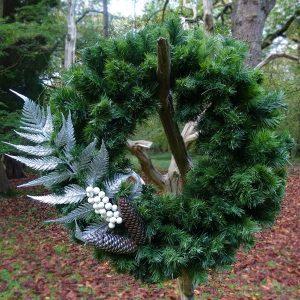 Silver Fern Christmas Door Wreath