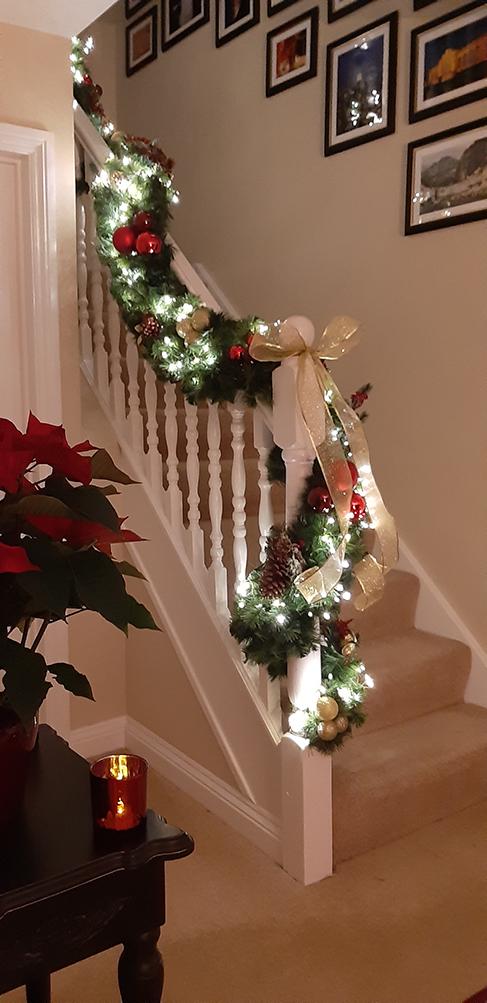 Bannister Christmas Garland Easy Drape